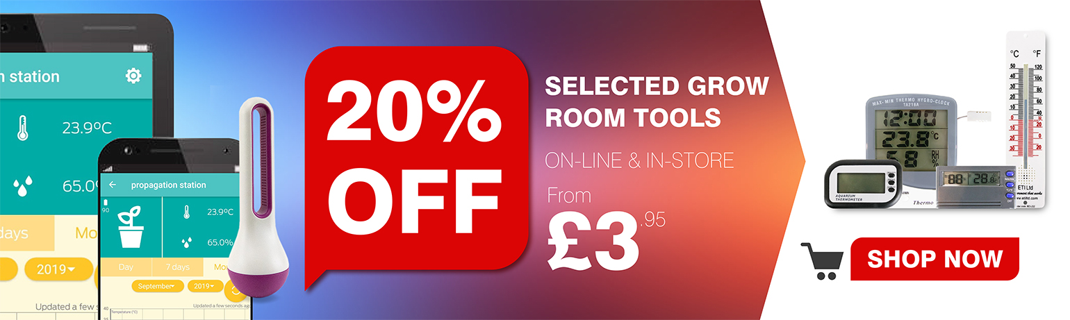 20% Off and more on Selected Grow Room Tools