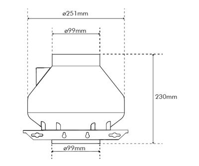"""Systemair RVK Sileo 100 E2 A1 100mm/4"""" (175M3 P/Hr)"""