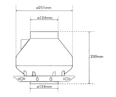"""Systemair RVK Sileo 125 E2 L1 125mm/5"""" (322M3/H)"""