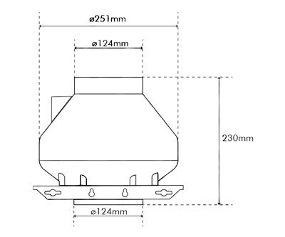 """Systemair RVK Sileo 125 E2 A1 125mm/5"""" (280M3 P/Hr)"""