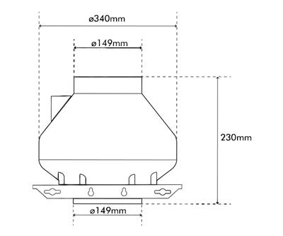 """Systemair RVK Sileo 150 E2 A1 150mm/6"""" (480M3 P/Hr)"""