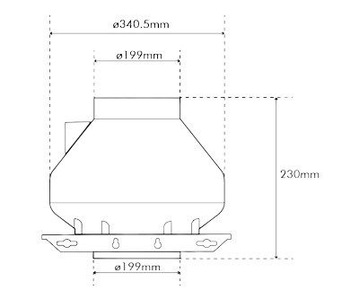 """Systemair RVK Sileo 200 E2 L1 200mm/8"""" (950M3 P/Hr)"""