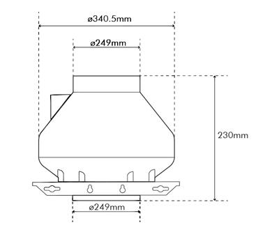 """Systemair RVK Sileo 250 E2 A1 250mm/10"""" (860M3/H)"""