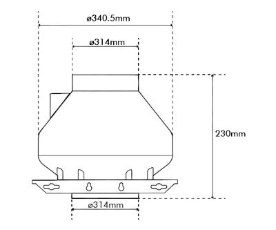 """Systemair RVK Sileo 315 E2 A1 315mm/12.5"""" (1300M3 P/Hr)"""