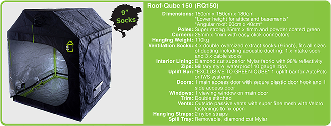 Roof Qube 150 Tech Specs